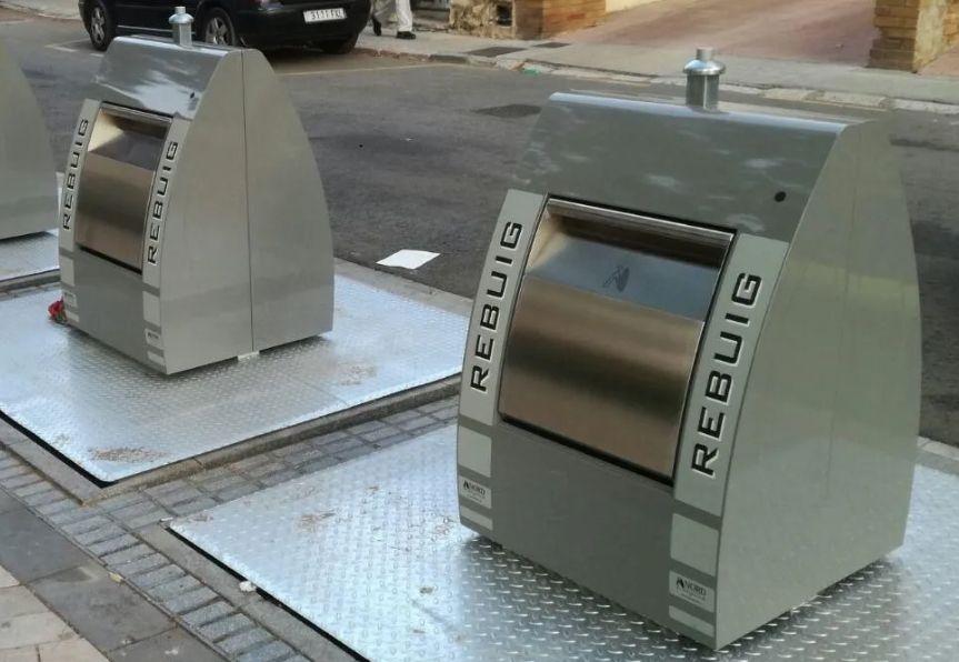 pistones resortes de gas contenedores basura