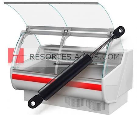 amortiguador resortes pistón hidráulico vitrina 448222