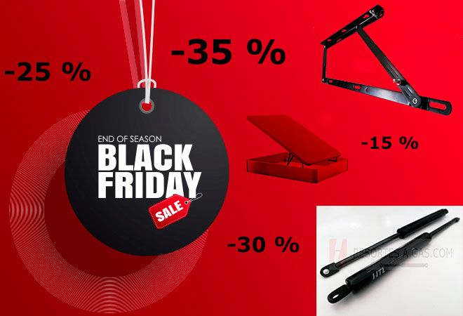 Resortes a gas Black Friday