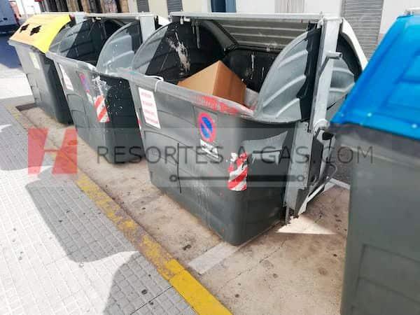 amortiguadores de contenedores de basura resortes