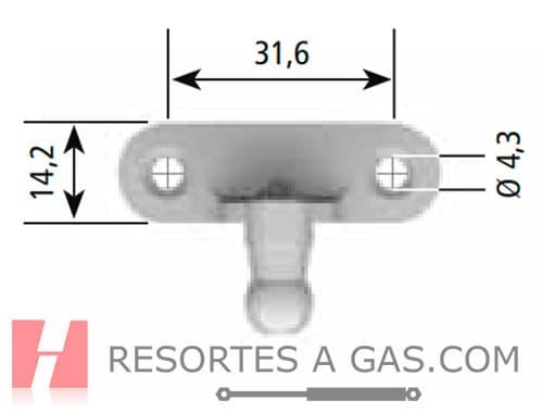 medidas 6284UG bracket