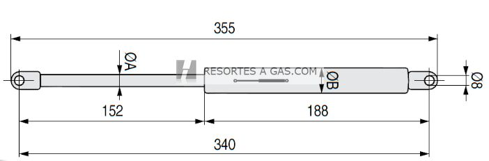 medidas de los resortes estandarizados para canapés abatibles